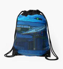 Blue Temple Nezu Drawstring Bag