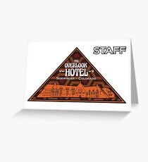 "The Overlook Hotel ""Staff"" Greeting Card"