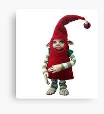 Happy Holiday Helper - Xmas Elf  Canvas Print