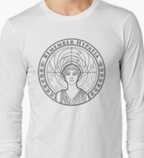 Remember Hypatia - Black on White Long Sleeve T-Shirt