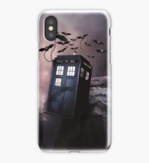 Flying Blue Box In Space Hoodie / T-shirt iPhone Case