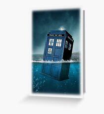 Blue Box in Water Hoodie / T-shirt Greeting Card