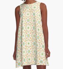 Old floral tiles A-Line Dress