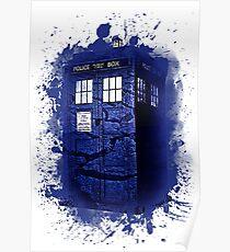 Scratch Blue Box Hoodie / T-shirt Poster