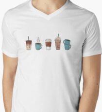 Kaffee? T-Shirt mit V-Ausschnitt für Männer