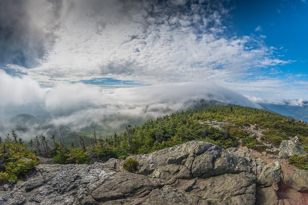 Clouds on Carter Dome, New Hampshire. by mattmacpherson