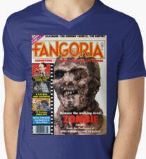 Fangoria 8 Zombie Cover Mens V-Neck T-Shirt