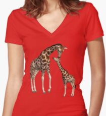 Mommy and Me Women's Fitted V-Neck T-Shirt
