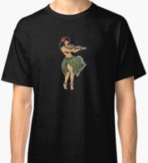 Beautiful Hula Girl Dancing the Hula Classic T-Shirt