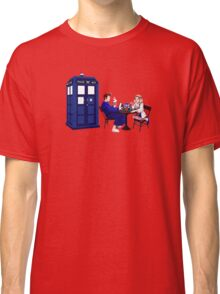 Tardis And The Doctor Breakfast Classic T-Shirt