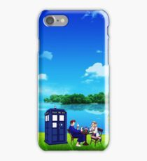 Tardis And The Doctor Breakfast iPhone Case/Skin