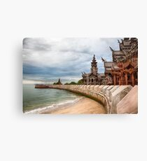 Sanctuary of Truth Temple Thailand Canvas Print