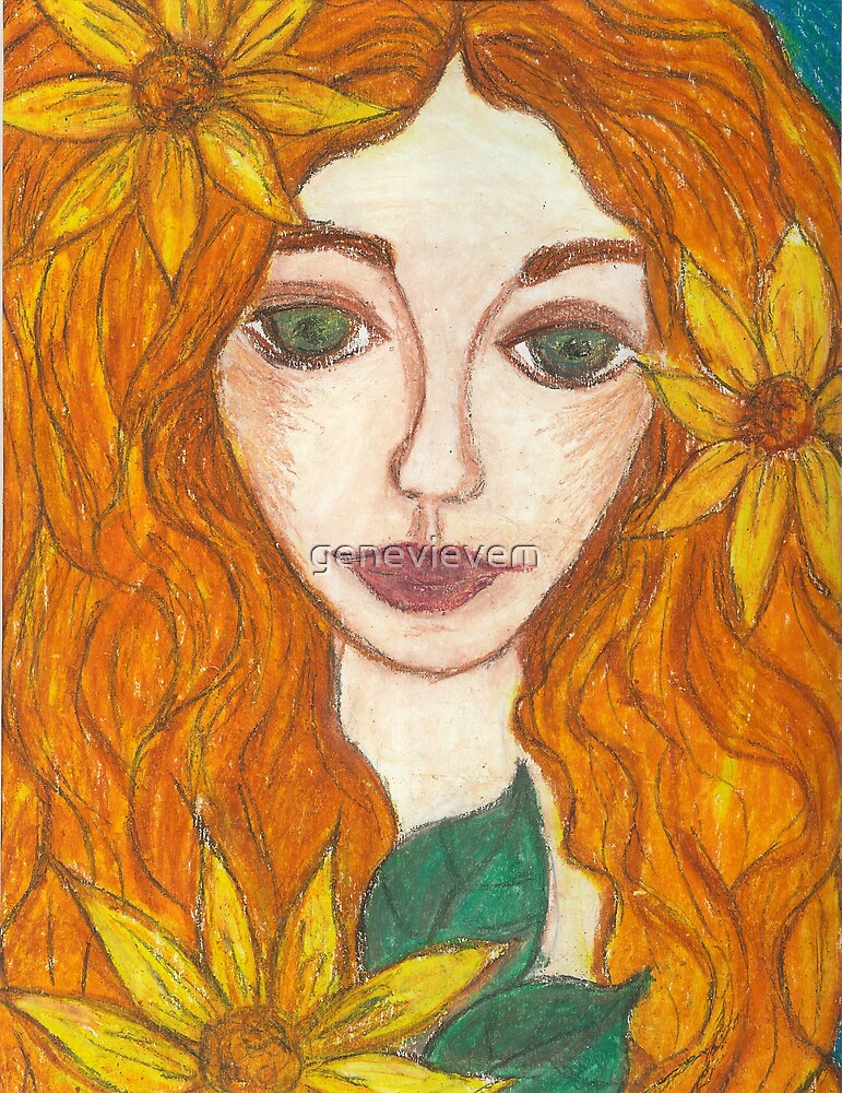 sunflower girl by genevievem