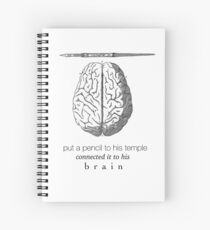 Connected It To His Brain | Hamilton Spiral Notebook