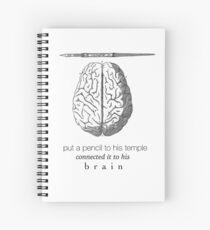 Cuaderno de espiral Conectado a su cerebro