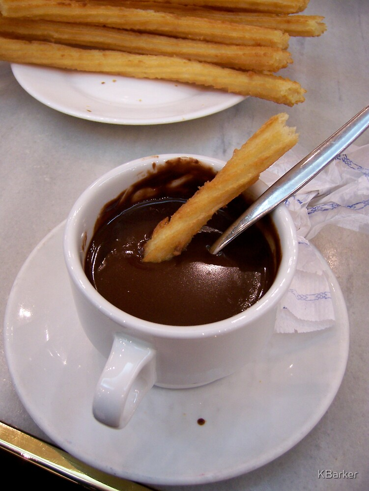 Chocolate con Churros, Madrid Spain 2006 by KBarker