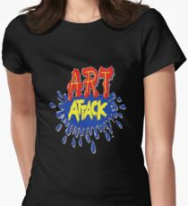 Art Attack!  Womens Fitted T-Shirt