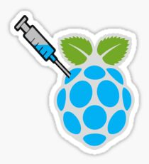 Injected Raspberry Sticker