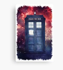 Police Blue Box Tee The Doctor T-Shirt Canvas Print
