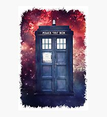 Police Blue Box Tee The Doctor T-Shirt Photographic Print