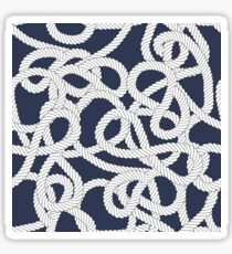 Nautical Rope Knots in Navy Sticker