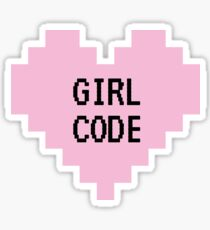 GIRL CODE Sticker