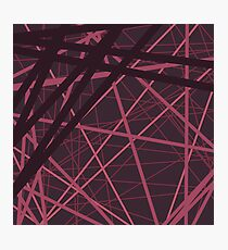 Abstract brown red pattern . Photographic Print