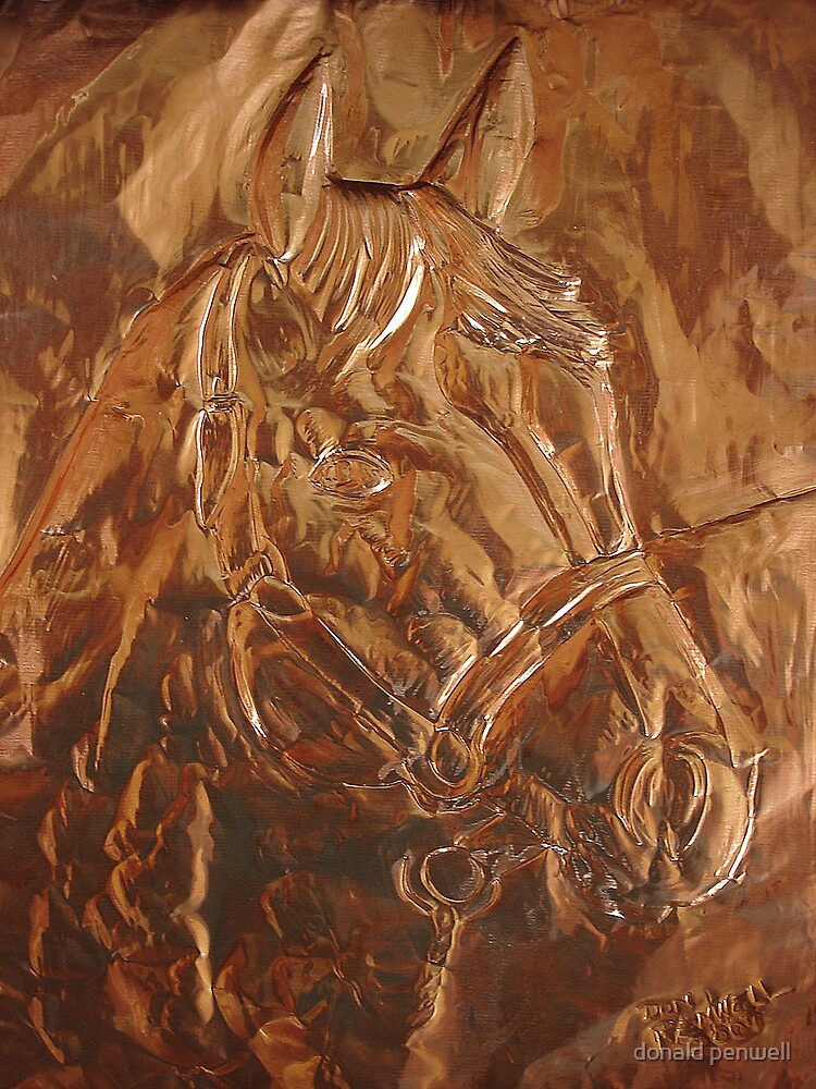 matalic horse  by donald penwell