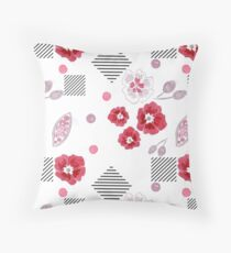 Watercolor . Red poppies .  Throw Pillow