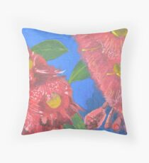 Red flowering gums Throw Pillow