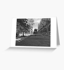 King's Exterior 13 B&W Greeting Card