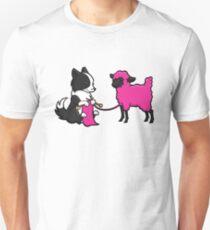 Knitting Border Collie and Friend Unisex T-Shirt