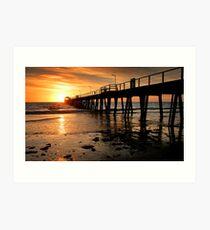 Sunset: Henley Beach Art Print