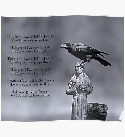 St. Francis and Brother Crow Poster