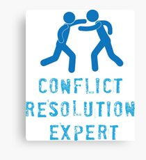 Conflict Resolution Expert Canvas Print