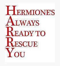 Harry Hermione mash-up Photographic Print