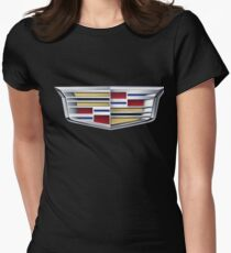 Cadillac logo (car) Womens Fitted T-Shirt