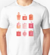 Flask Collection – Pink/Peach Ombré Palette Unisex T-Shirt