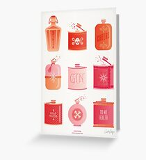 Flask Collection – Pink/Peach Ombré Palette Greeting Card