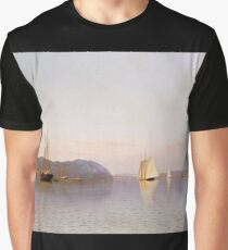 Francis Augustus Silva - Late Afternoon, Haverstraw Bay Graphic T-Shirt