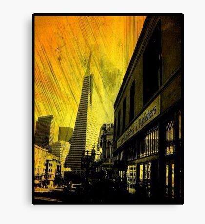 North Beach,San Francisco (Yellow Edit) Canvas Print