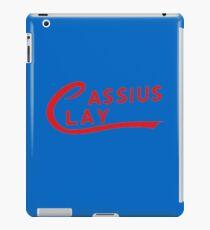 Cassius Clay-red logo iPad Case/Skin