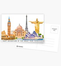 I want adventure in the great wide somewhere (wonders) Postcards
