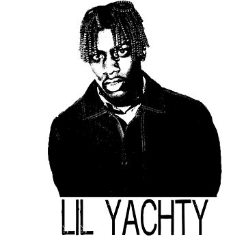 Lil Yachty Black and White Print by sophjade