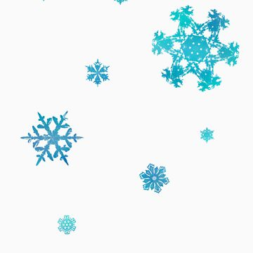 Blue Snowflakes by SketchRaven