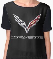 Corvette logo  Chiffon Top
