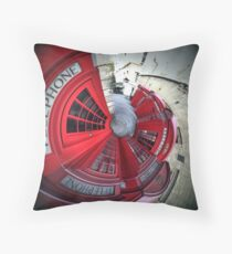 Telephone boxes in a spin Throw Pillow