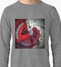 Telephone boxes in a spin Lightweight Sweatshirt