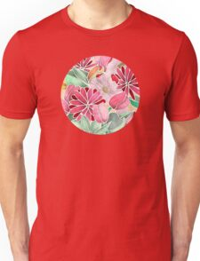 Blossoming - a hand drawn floral pattern Unisex T-Shirt