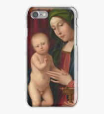 Francesco Francia - The Virgin And Child With An Angel iPhone Case/Skin